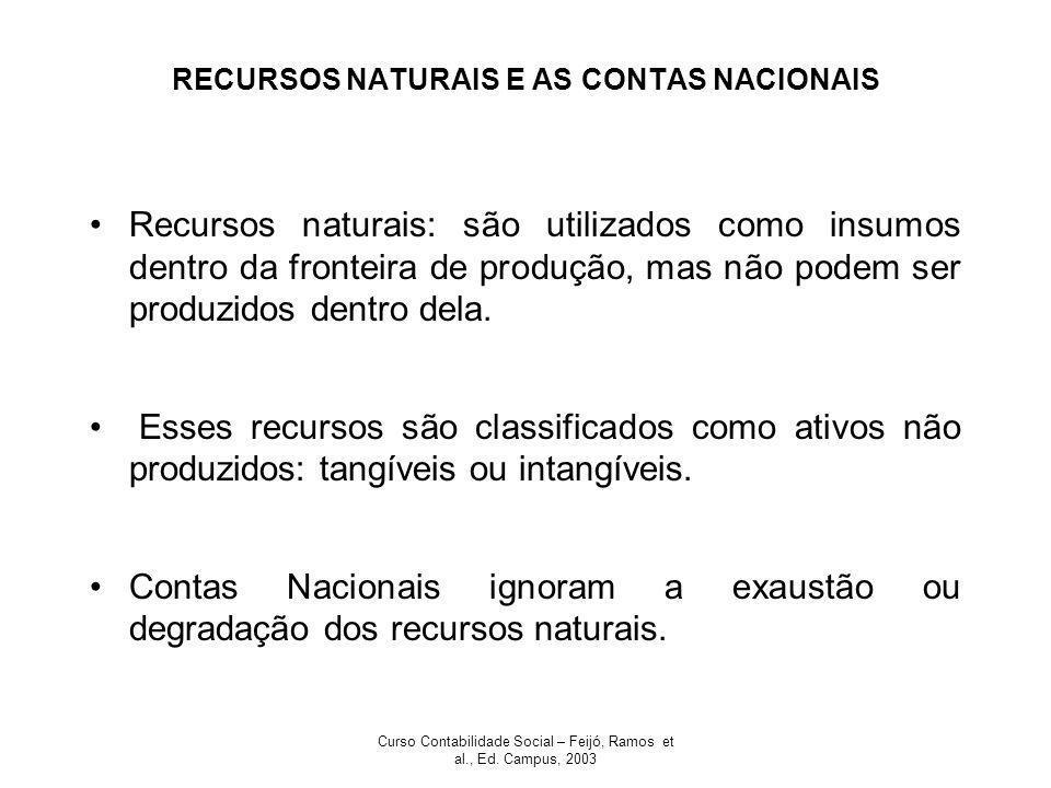 RECURSOS NATURAIS E AS CONTAS NACIONAIS