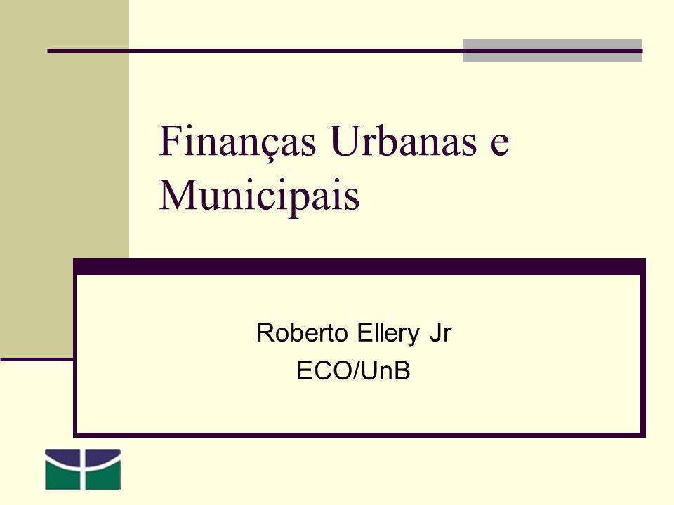Finanças Urbanas e Municipais