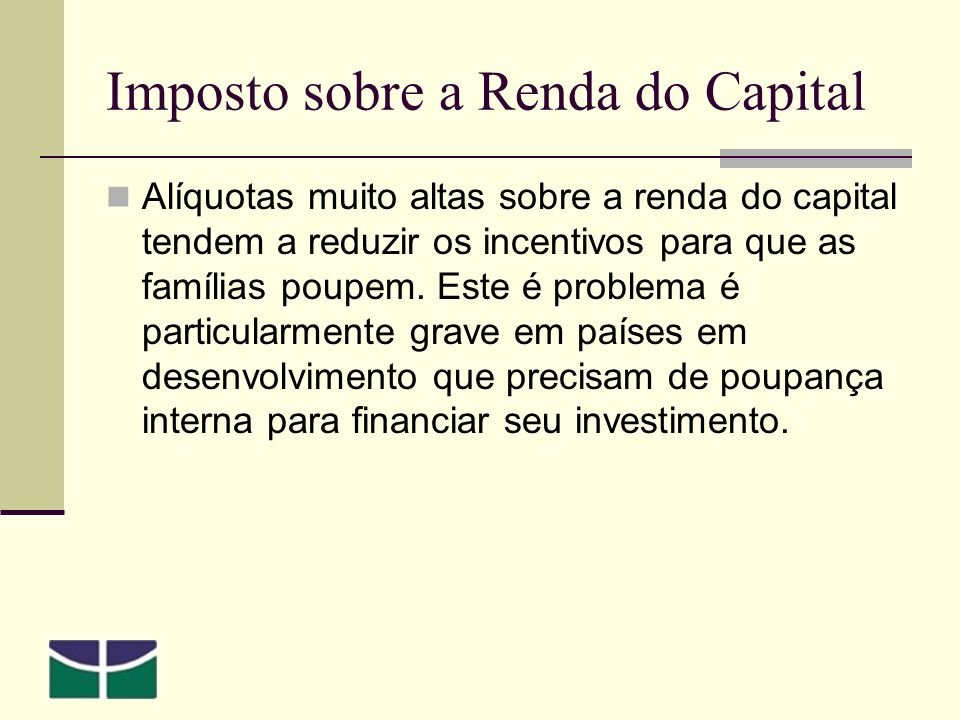 Imposto sobre a Renda do Capital