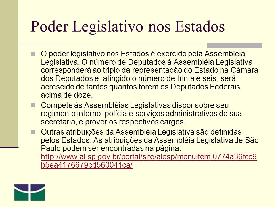 Poder Legislativo nos Estados