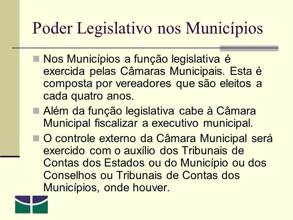 Poder Legislativo nos Municípios