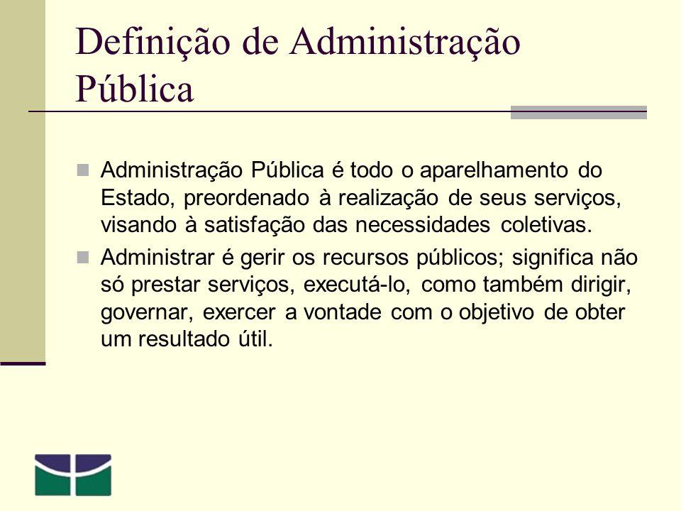 Definição de Administração Pública
