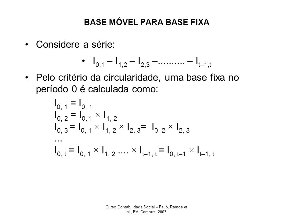 BASE MÓVEL PARA BASE FIXA
