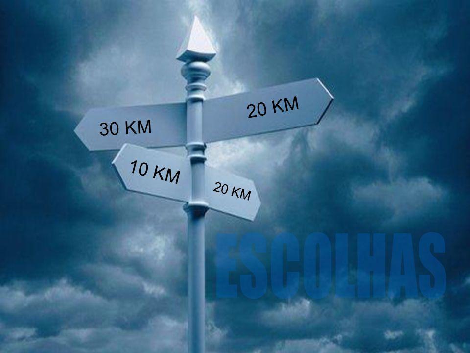 20 KM 30 KM 10 KM 20 KM ESCOLHAS