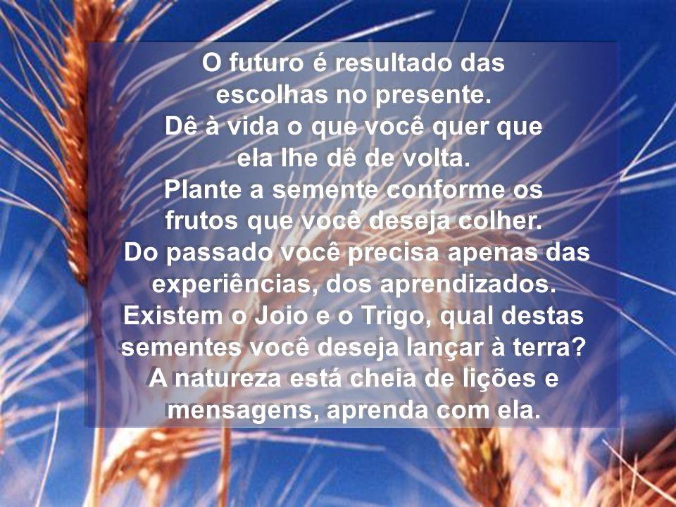 O futuro é resultado das escolhas no presente.