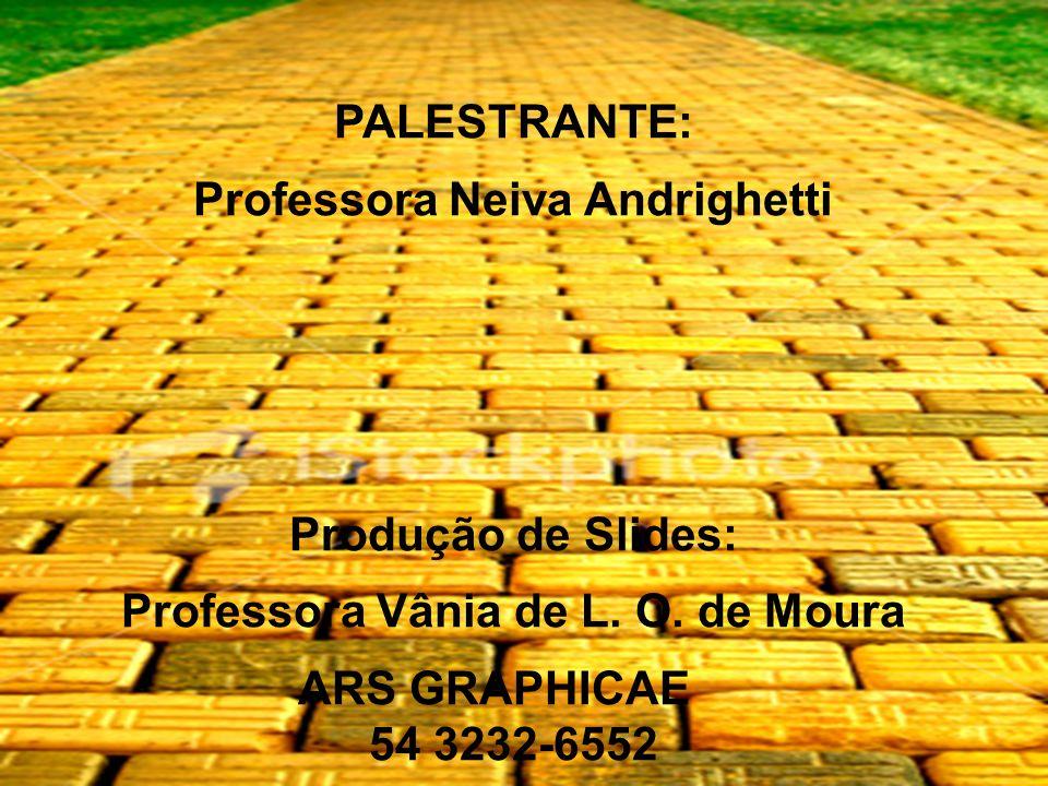 Professora Neiva Andrighetti Professora Vânia de L. O. de Moura
