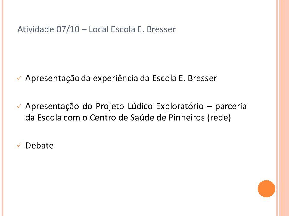 Atividade 07/10 – Local Escola E. Bresser