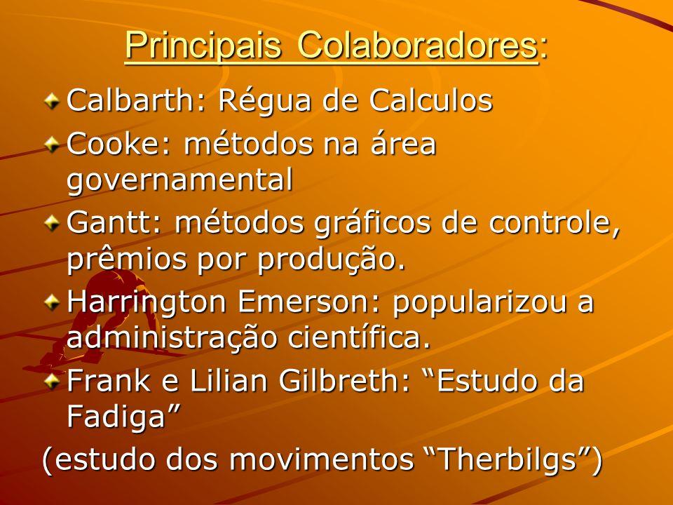 Principais Colaboradores: