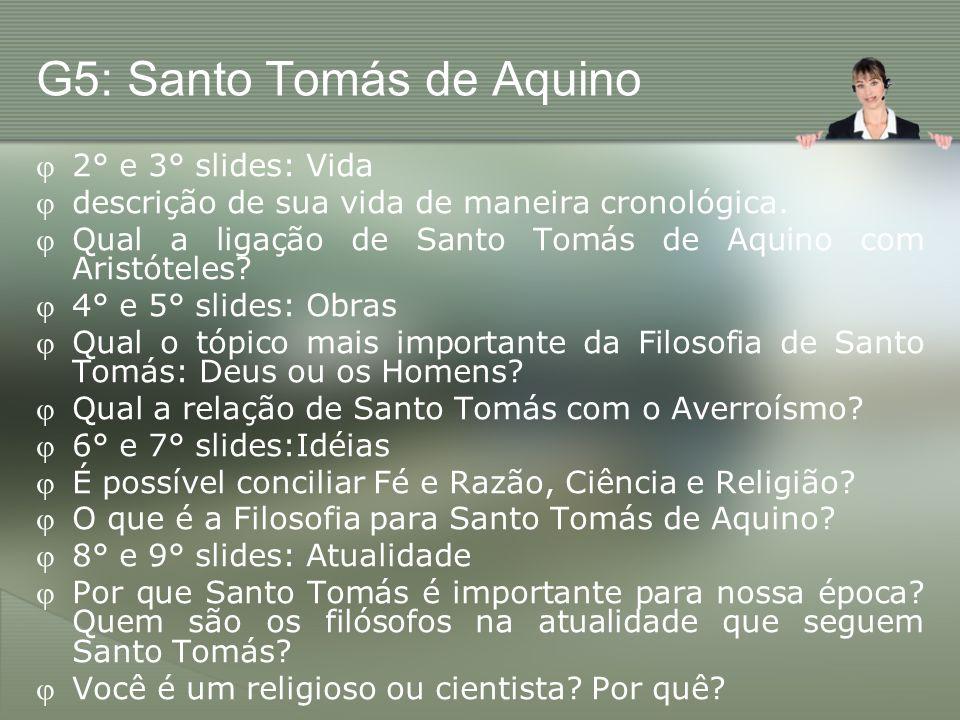 G5: Santo Tomás de Aquino
