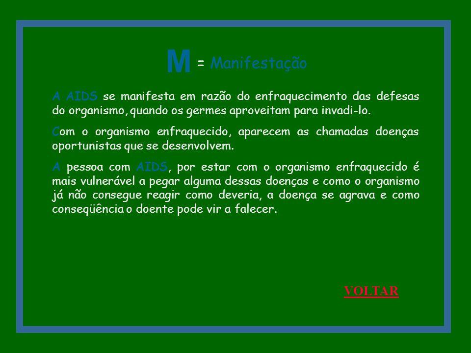 M = Manifestação VOLTAR