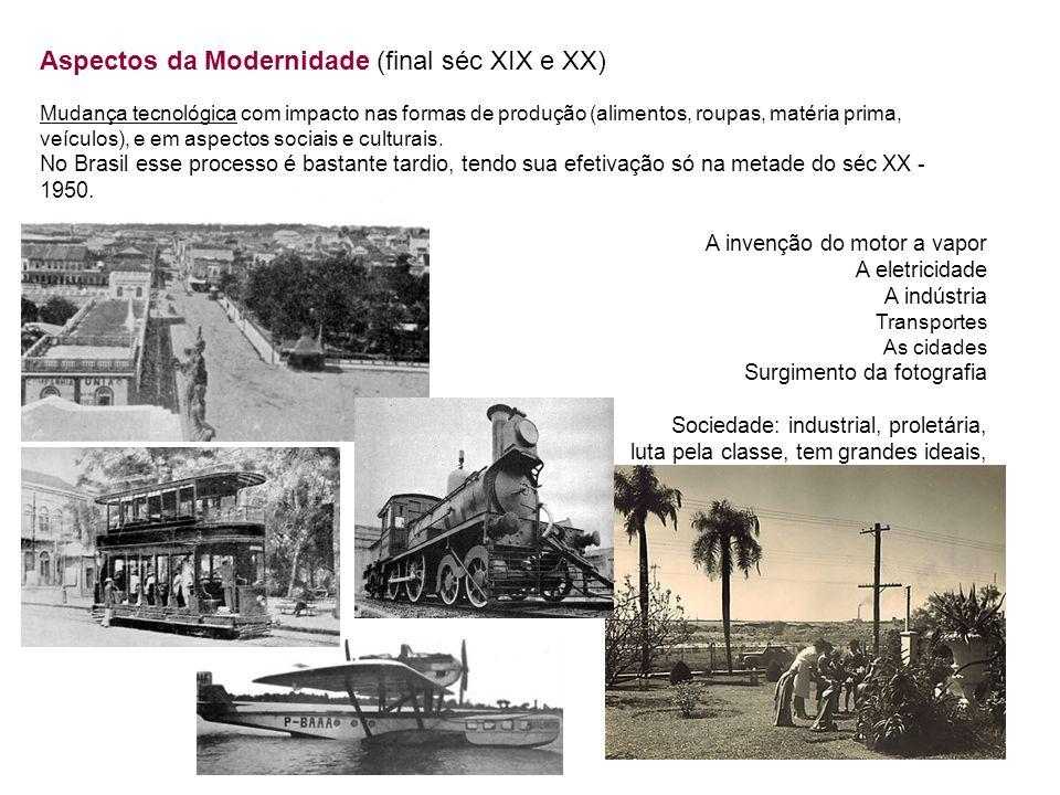Aspectos da Modernidade (final séc XIX e XX)