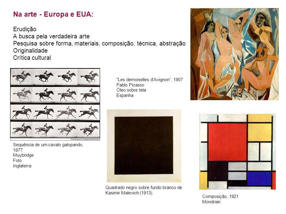 Na arte - Europa e EUA: Erudição A busca pela verdadeira arte