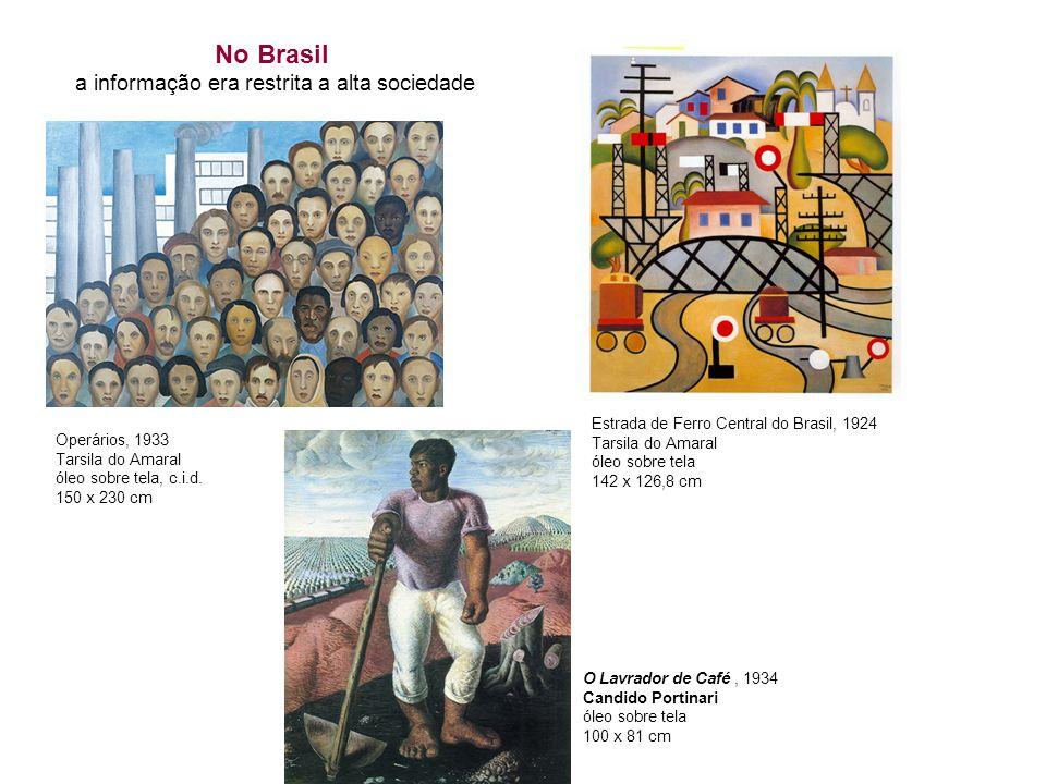 No Brasil a informação era restrita a alta sociedade