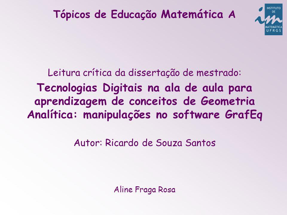 Tópicos de Educação Matemática A