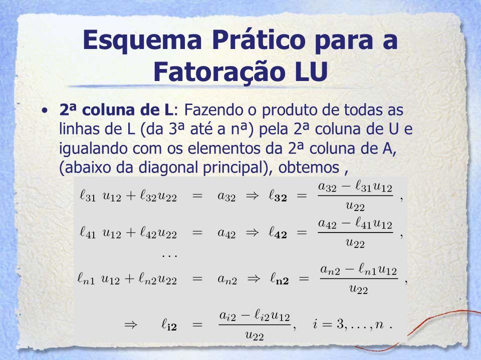 Esquema Prático para a Fatoração LU