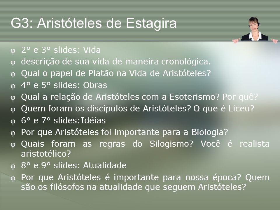 G3: Aristóteles de Estagira