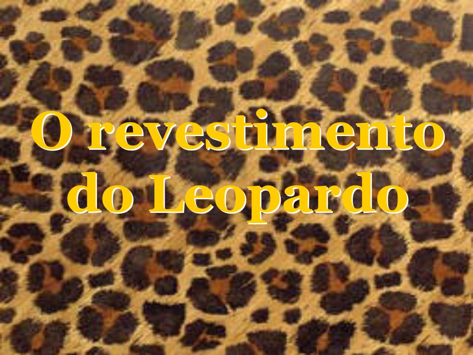 O revestimento do Leopardo
