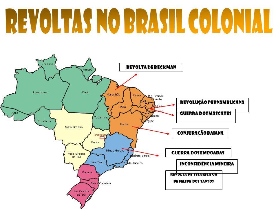 REVOLTAS NO BRASIL COLONIAL