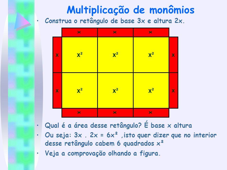 Multiplicação de monômios