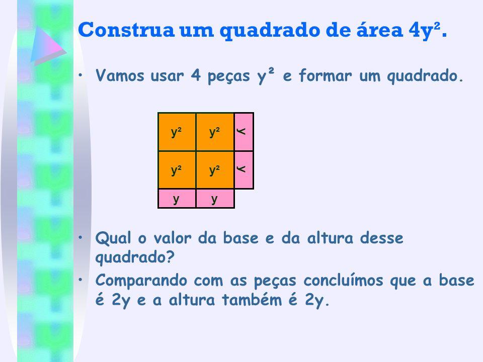 Construa um quadrado de área 4y².