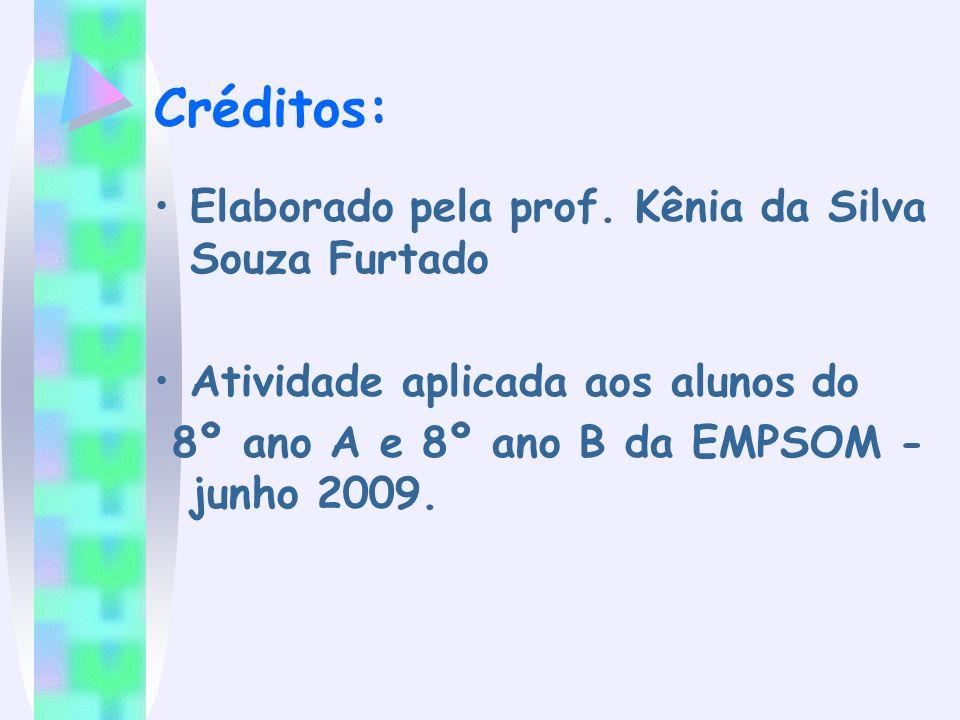 Créditos: Elaborado pela prof. Kênia da Silva Souza Furtado