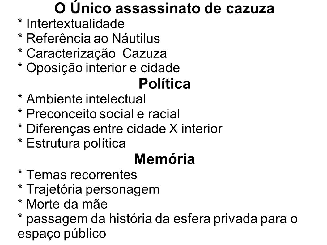 O Único assassinato de cazuza