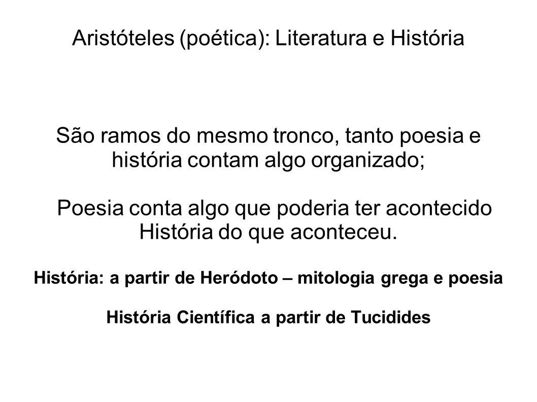 Aristóteles (poética): Literatura e História