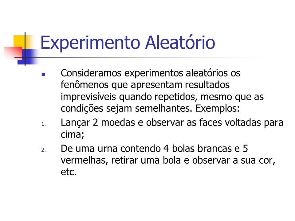 Experimento Aleatório