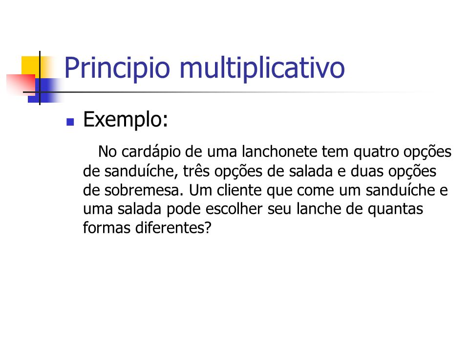 Principio multiplicativo