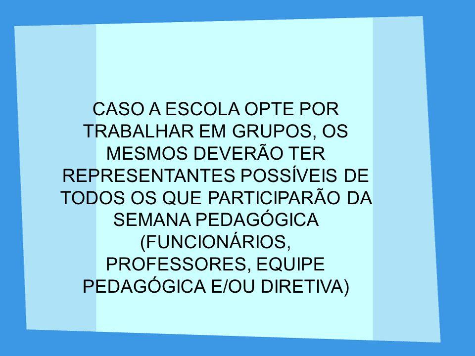 PROFESSORES, EQUIPE PEDAGÓGICA E/OU DIRETIVA)