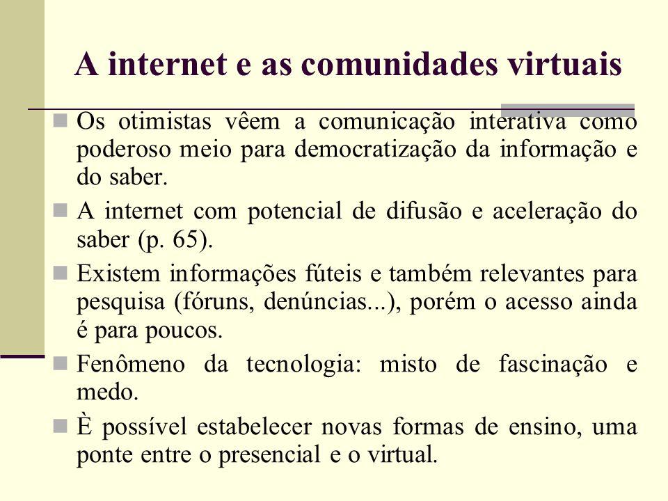 A internet e as comunidades virtuais