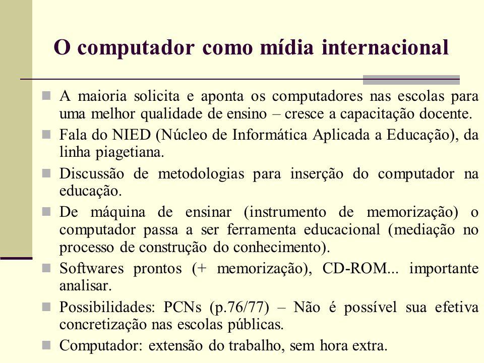O computador como mídia internacional