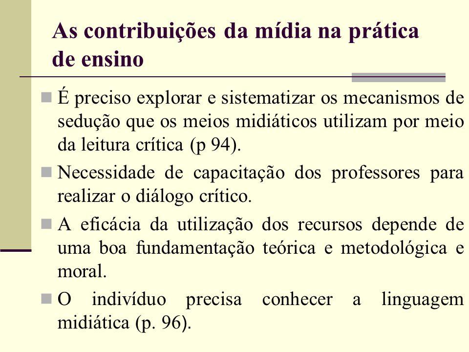 As contribuições da mídia na prática de ensino