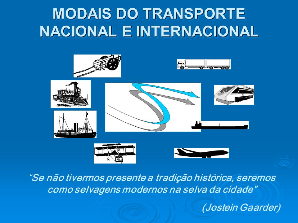 MODAIS DO TRANSPORTE NACIONAL E INTERNACIONAL