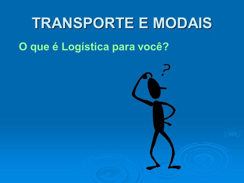 TRANSPORTE E MODAIS O que é Logística para você