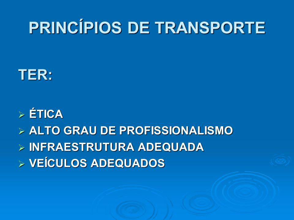 PRINCÍPIOS DE TRANSPORTE