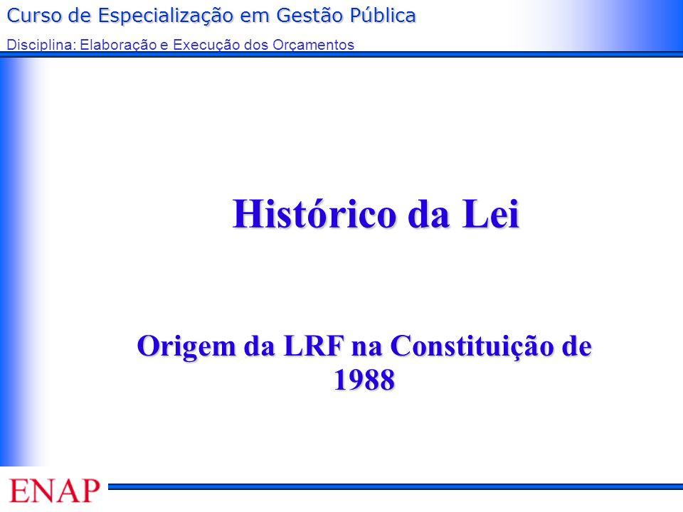 Origem da LRF na Constituição de 1988
