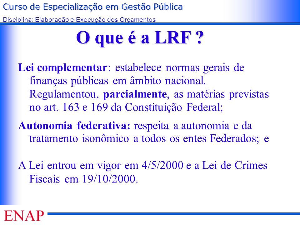 O que é a LRF