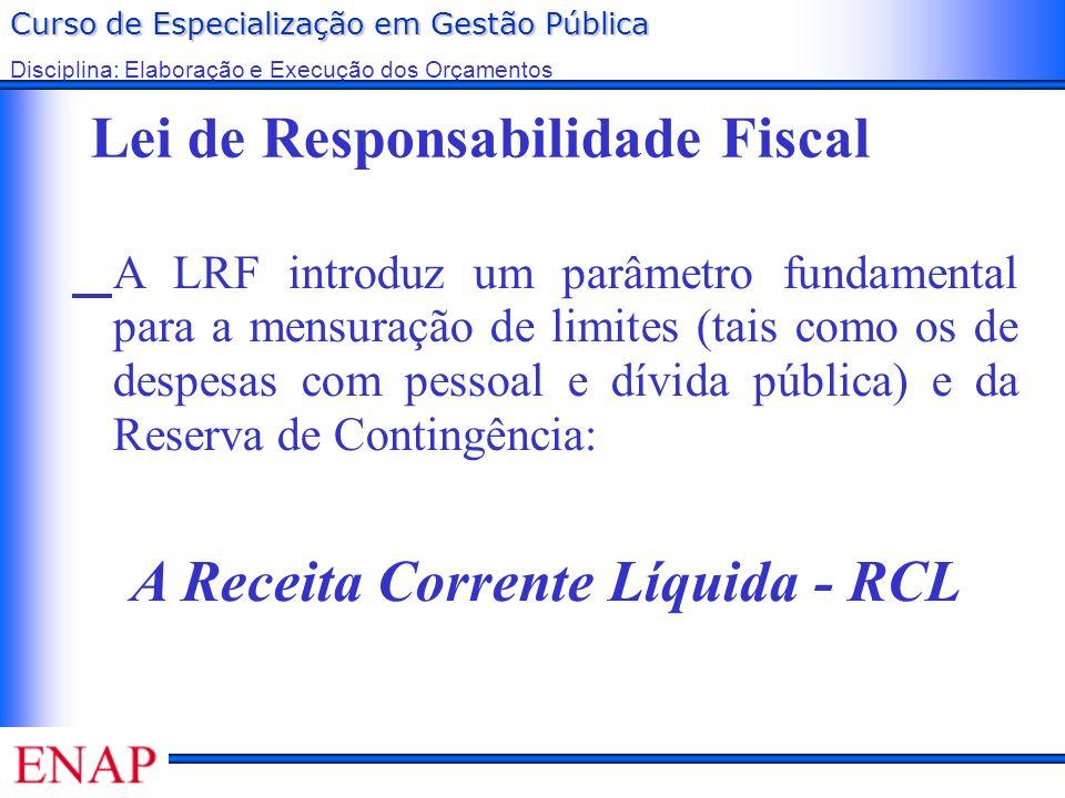 A Receita Corrente Líquida - RCL