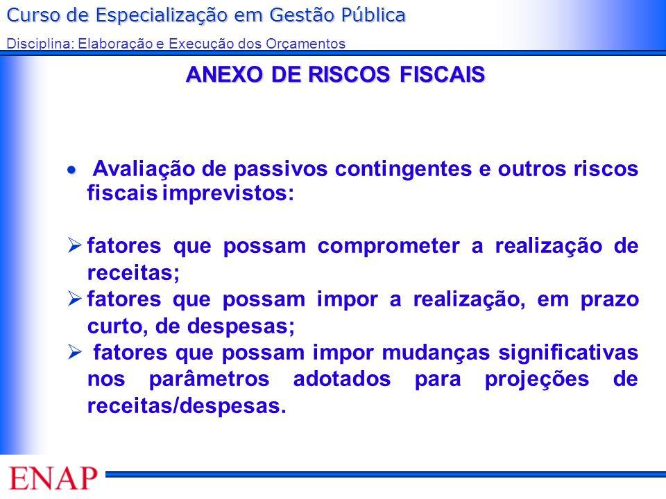 ANEXO DE RISCOS FISCAIS