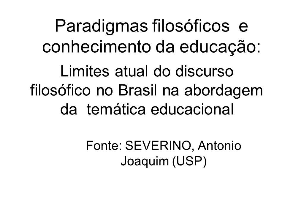 Paradigmas filosóficos e conhecimento da educação: