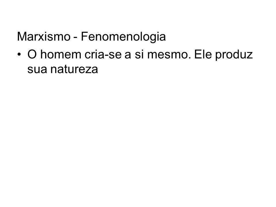 Marxismo - Fenomenologia