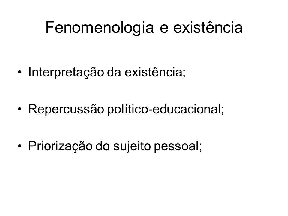 Fenomenologia e existência