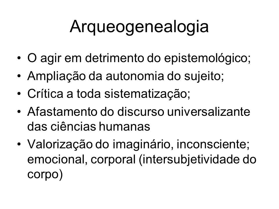 Arqueogenealogia O agir em detrimento do epistemológico;