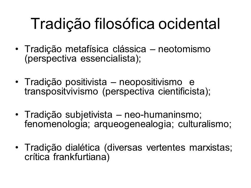 Tradição filosófica ocidental