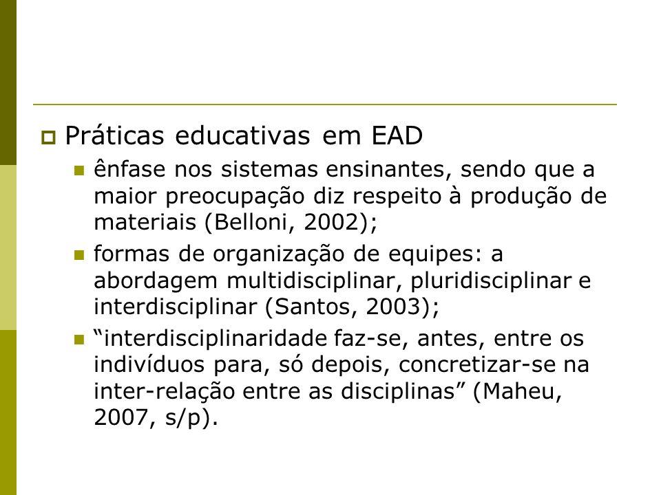Práticas educativas em EAD
