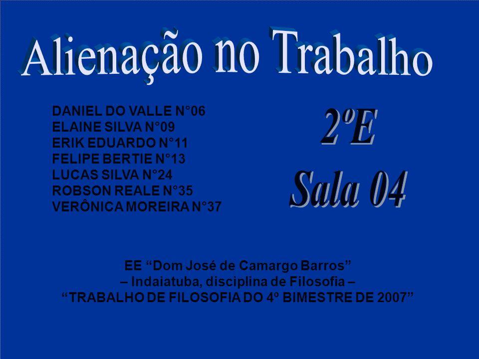 Alienação no Trabalho 2ºE Sala 04 DANIEL DO VALLE N°06