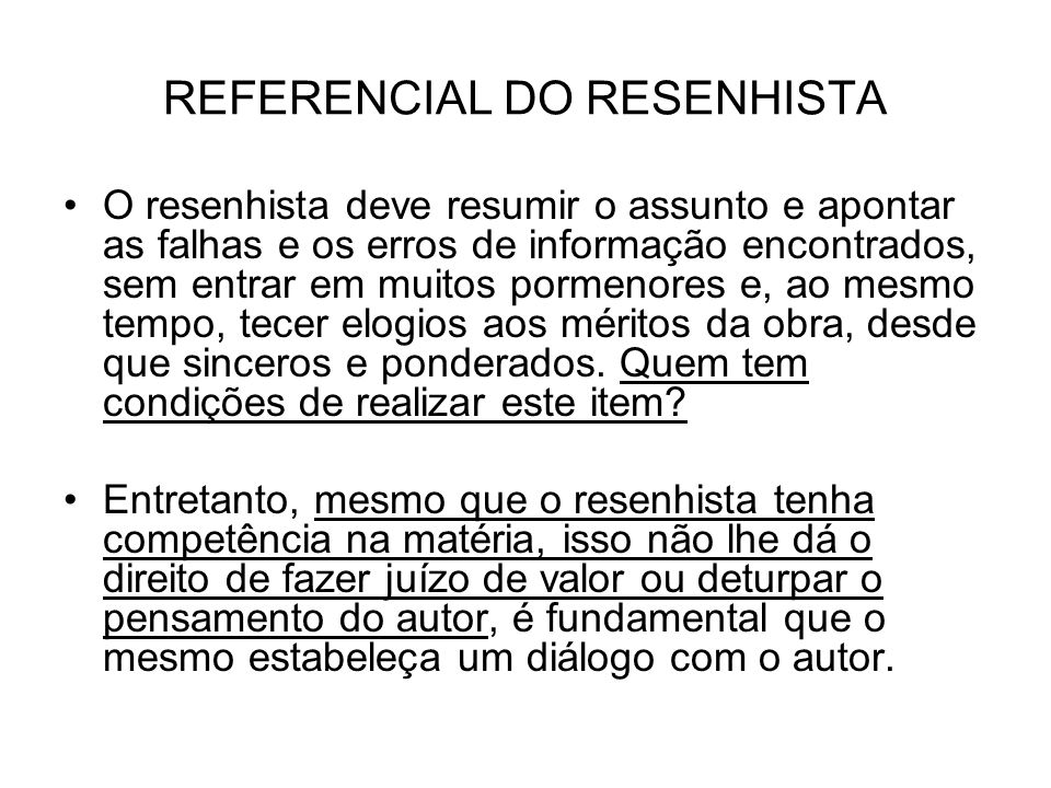 REFERENCIAL DO RESENHISTA