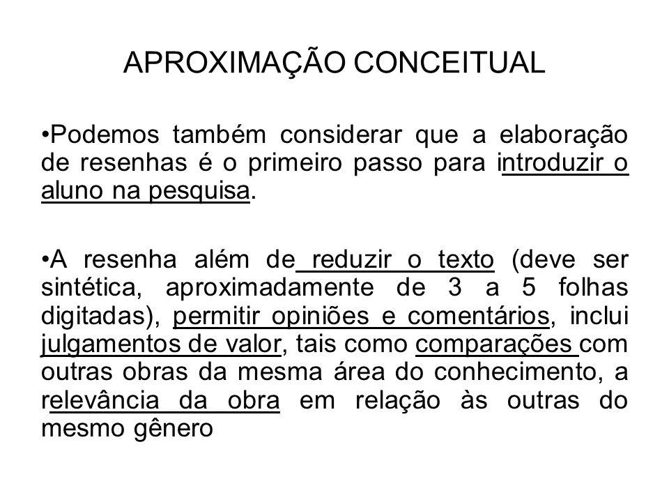 APROXIMAÇÃO CONCEITUAL
