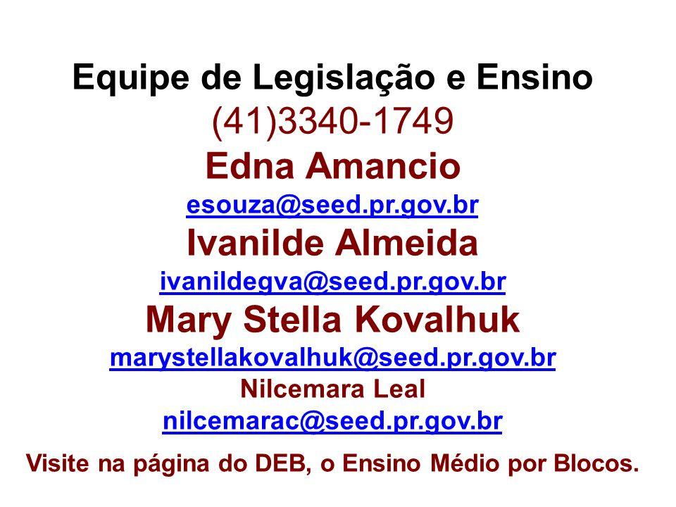 Equipe de Legislação e Ensino